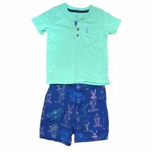 Gap looney toons shorts set toddler boy
